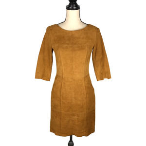H&M Divided Brown 100% Suede Leather Dress